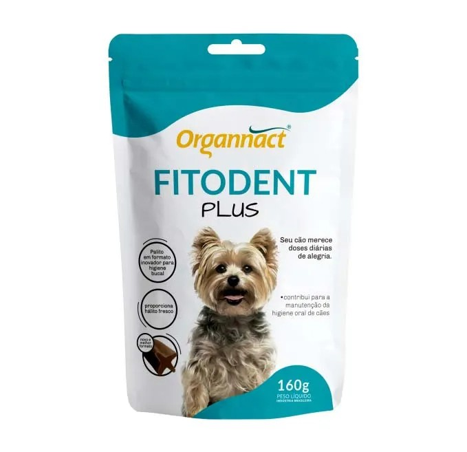 Suplemento Organnact Fitodent Plus Palitos 160g