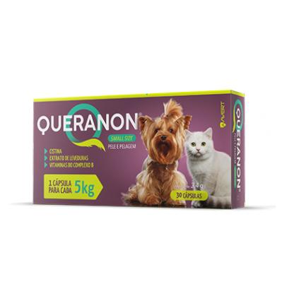 Suplemento Vitamínico Avert Queranon para Cães de Raças Pequenas e Gatos - 30 Cápsulas