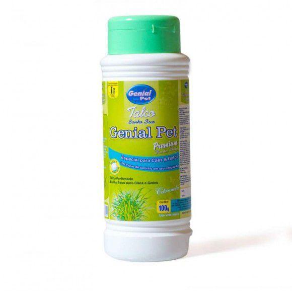 Talco Banho a seco Premium Citronela Genial Pet