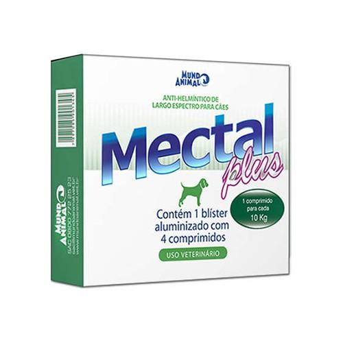 Vermífugo Mectal Plus para Cães Mundo Animal 10kg 4 comprimidos