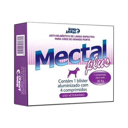 Vermífugo Mectal Plus para Cães Mundo Animal 30kg 4 comprimidos