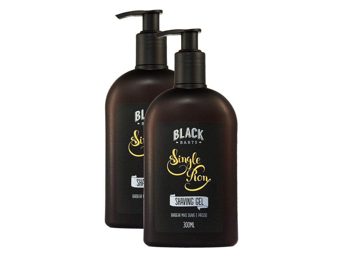 02 Shaving Gel para Barbear Transparente Black Barts® Single Ron  - Black Barts