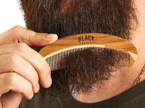 Kit Balm para Barba em cera + Pente de Madeira Personalizado Black Barts®  - Black Barts