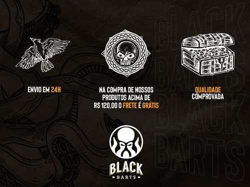 24 Pentes de Madeira Curvo Black Barts®  - Black Barts