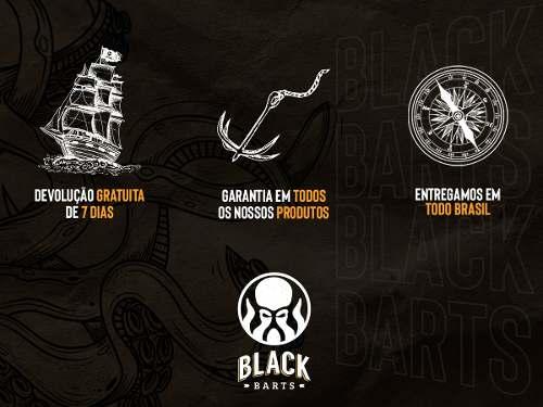 12 Pentes de Madeira Curvo Black Barts®  - Black Barts