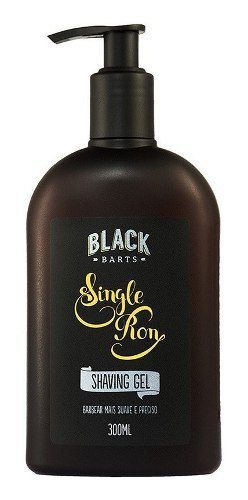 12 Shaving Gel para Barbear Transparente Black Barts® Single Ron - Black Barts