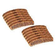 12 Pentes de Madeira Curvo Black Barts®