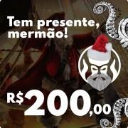 CARTÃO VALE COMPRAS PRESENTE DE NATAL BLACK BARTS - R$200,00
