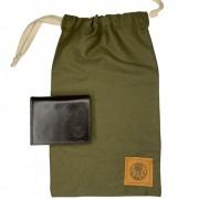 Carteira Black Barts® em Couro Marrom + Bag Artesanal Exclusiva Black Barts®