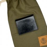 Carteira Black Barts® em Couro Preta + Bag Artesanal Exclusiva Black Barts®