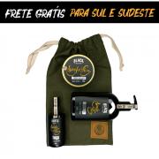 Kit + Bag Artesanal Exclusiva Com Shaving Gel + Loção Pós Barba + Pomada Modeladora Matte Efeito Seco