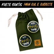 Kit + Bag de Presente com 2 Pomadas Modeladoras para Cabelo Matte Effect - Efeito Seco Black Barts® Single Ron