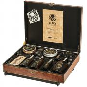Kit Completão Barba e Cabelo Linha Completa Black Barts® Single Ron [Maleta Artesanal de Madeira Inclusa]
