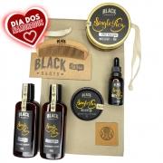 Kit Pente Grátis Personalizado + Balm + Óleo + Shampoo e Condicionador de Barba + Pomada Modeladora de Cabelo + Bag Artesanal