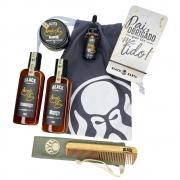 Kit Porta Celular Grátis + Balm + Óleo + Shampoo e Condicionador de Barba + Pente Personalizado + Bag Artesanal