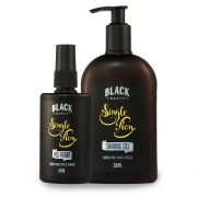 Kit Shaving Gel + Loção Pós Barba Spray Black Barts® Single Ron