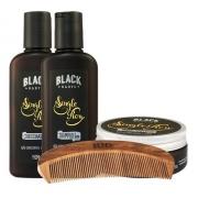 Pomada Cabelo Shampoo Condicionador Pente Barba Blackbarts
