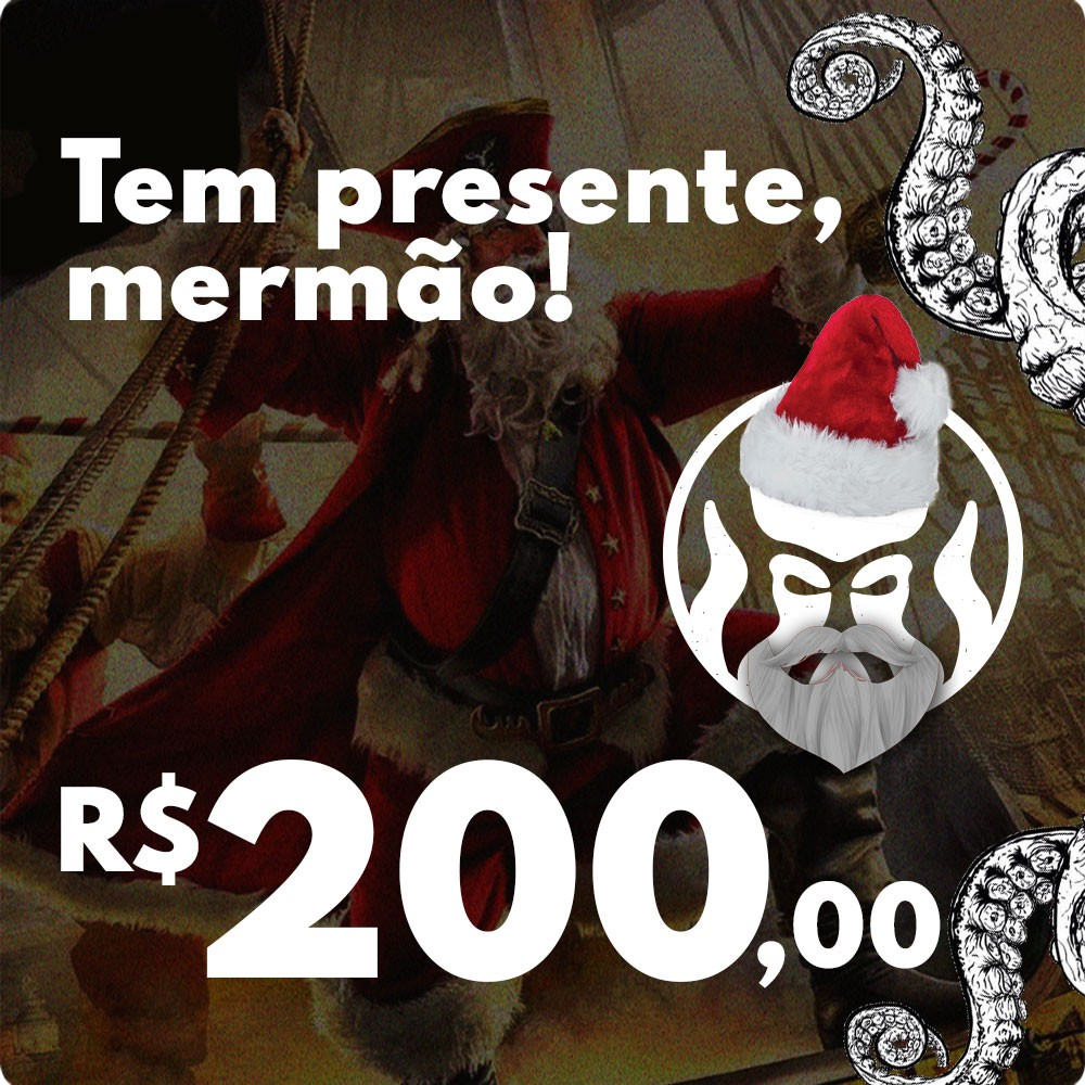 CARTÃO VALE COMPRAS PRESENTE DE NATAL BLACK BARTS - R$200,00  - Black Barts