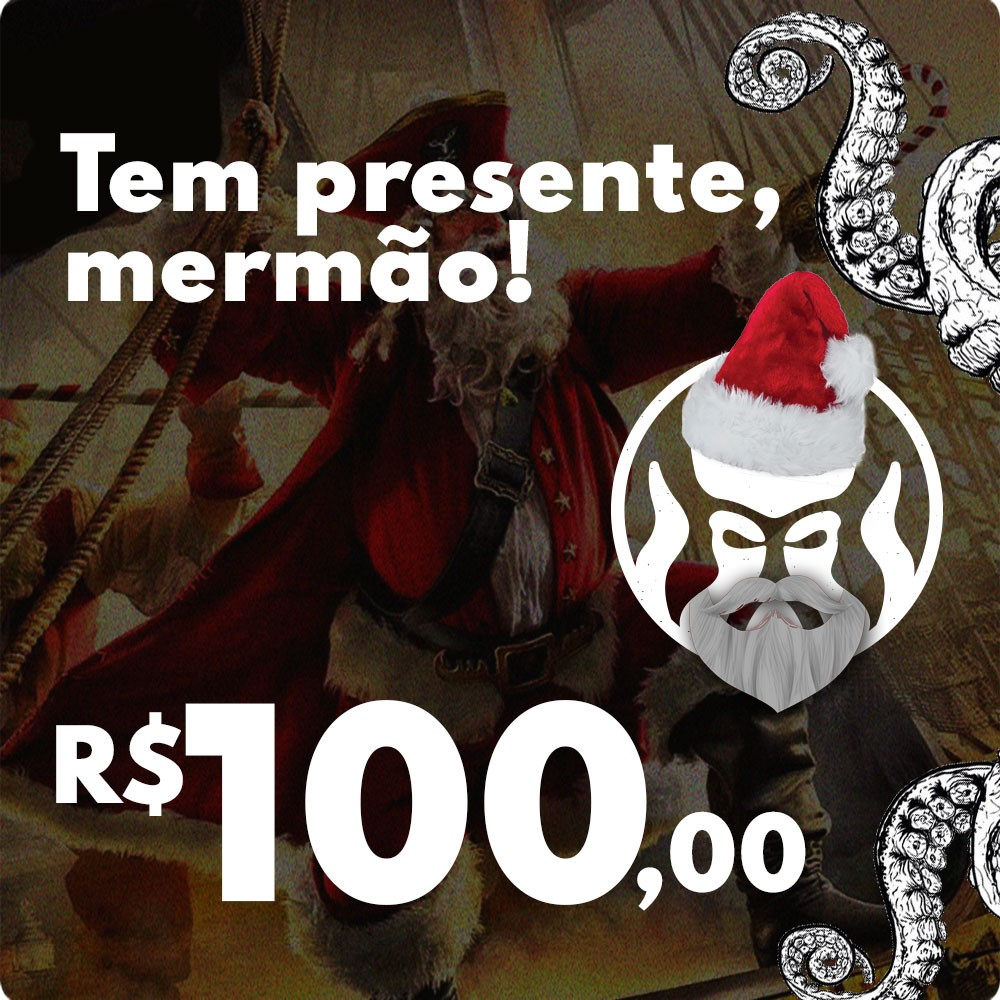 CARTÃO VALE COMPRAS PRESENTE DE NATAL BLACK BARTS - R$100,00  - Black Barts