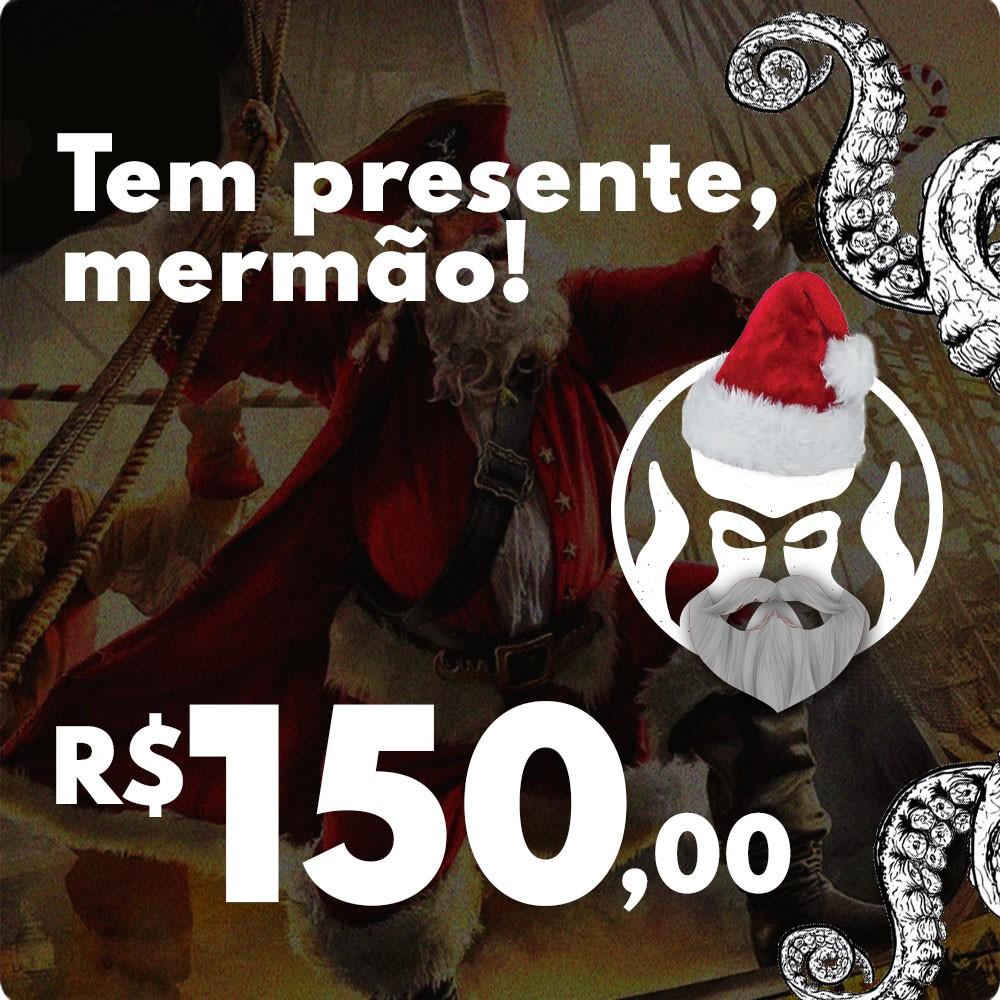 CARTÃO VALE COMPRAS PRESENTE DE NATAL BLACK BARTS - R$150,00  - Black Barts