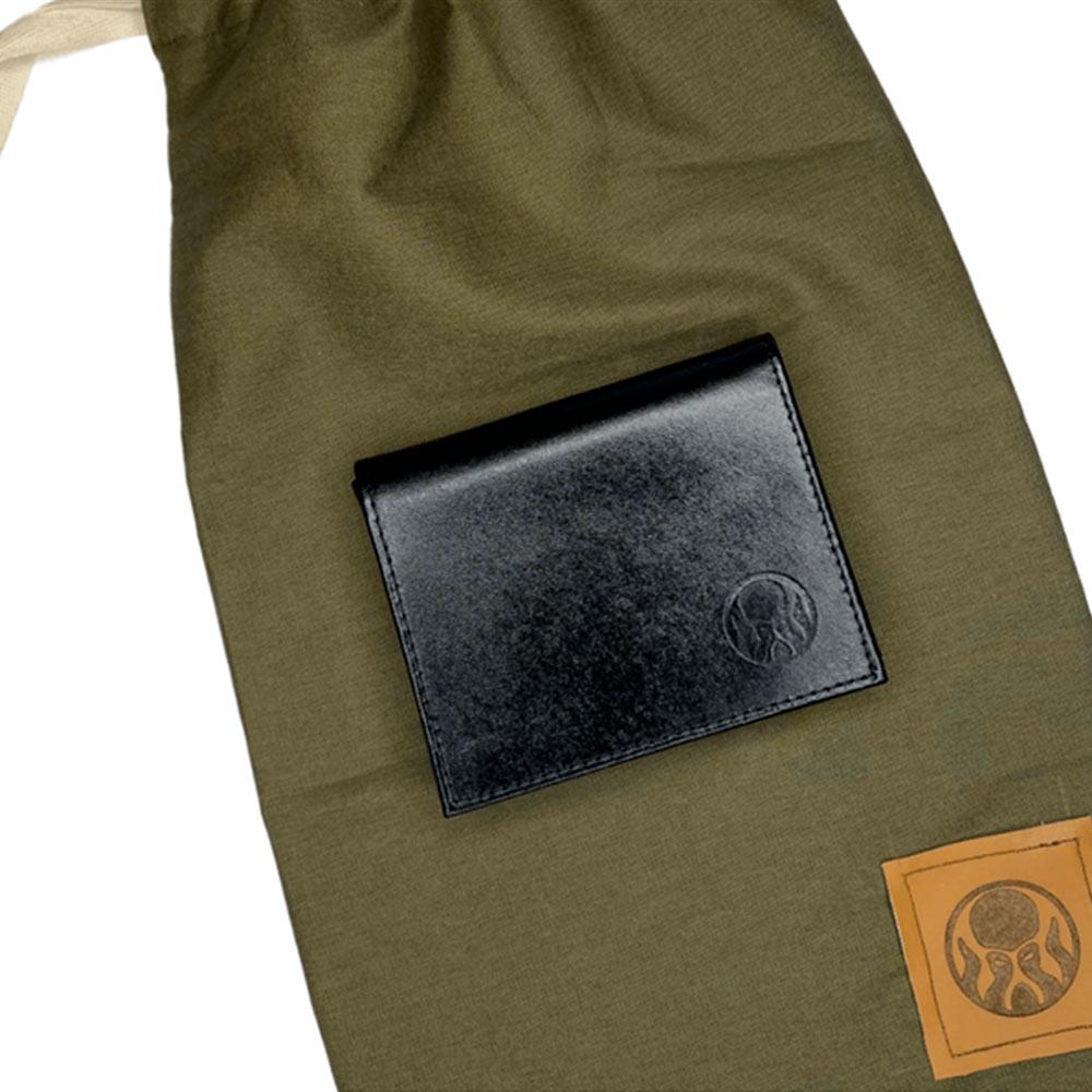 Carteira Black Barts® em Couro Preta + Bag Artesanal Exclusiva Black Barts®  - Black Barts