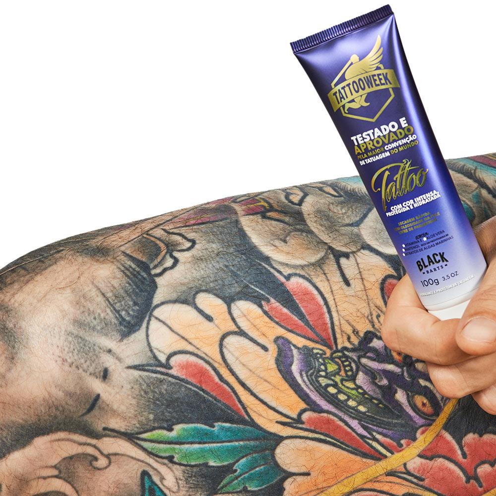 03 un. Protetor e Hidratante de Tatuagem 100g - Black Barts & Tattoo Week  - Black Barts