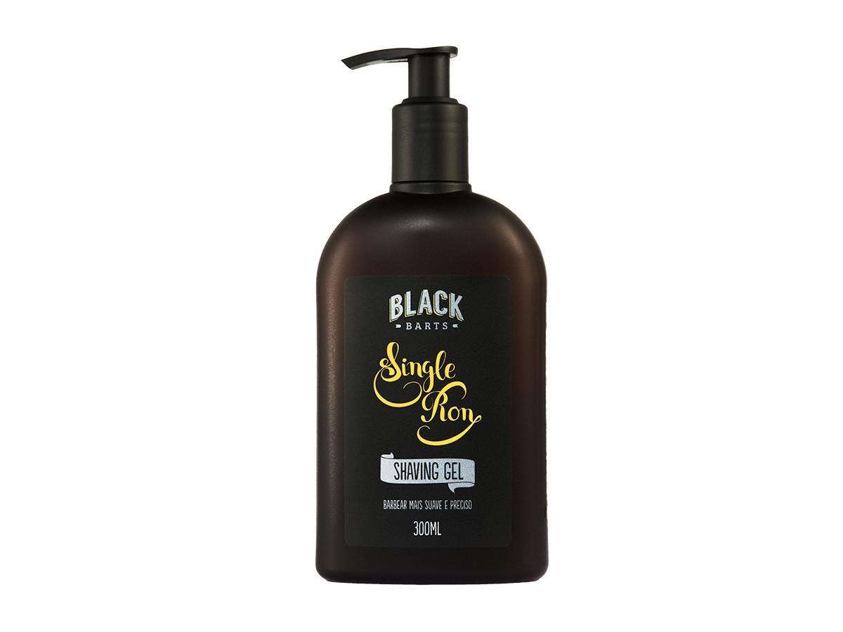 Kit + Bag Artesanal + Shaving Gel Creme de Barbear + Loção Pós Barba em Spray Black Barts®  - Black Barts