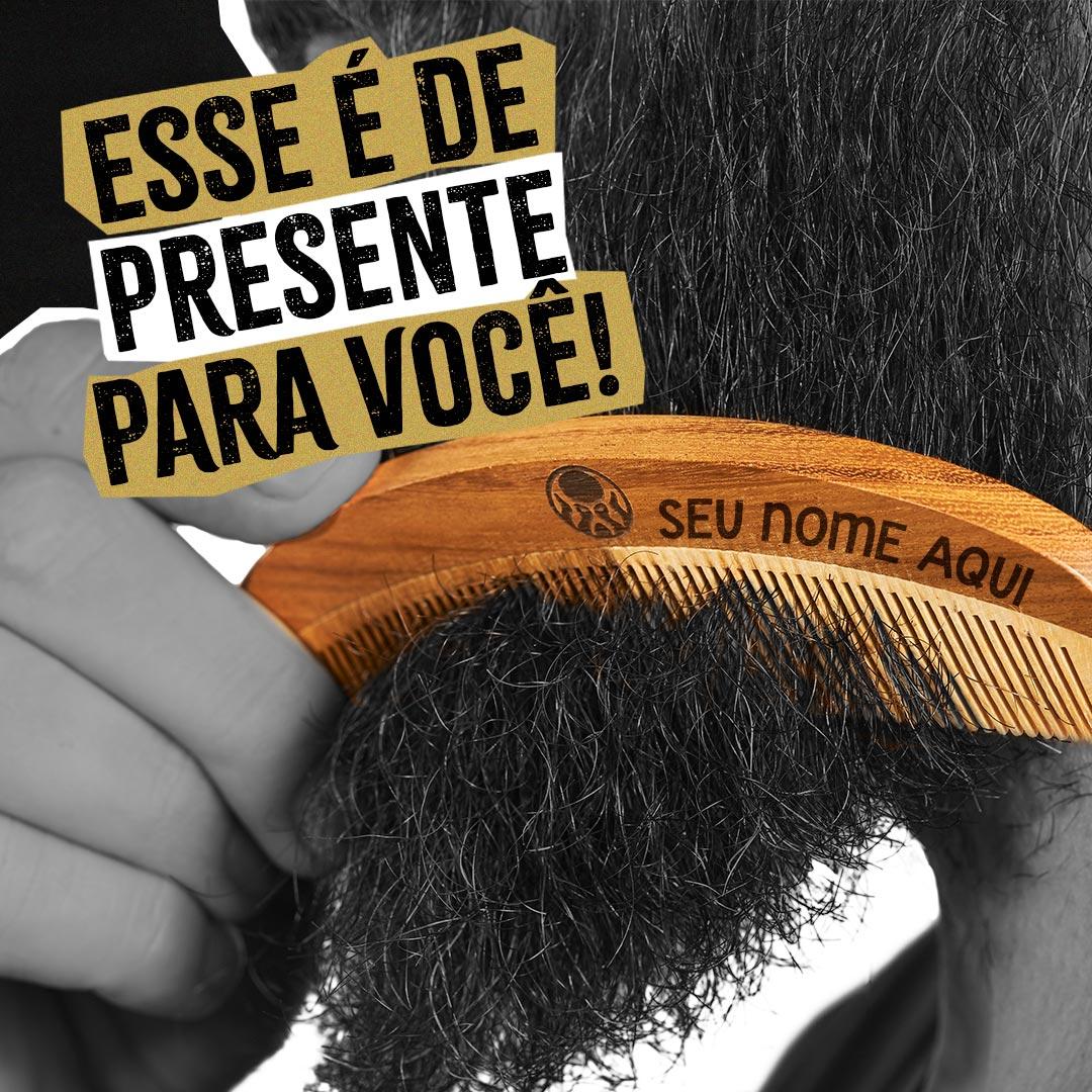 Kit Pente Grátis + Óleo + Balm + Shampoo + Condicionador + Bag Artesanal  - Black Barts