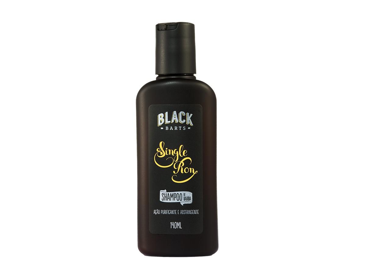 KIT 04 - BANDANA EXCLUSIVA BLACK BARTS + REFIL BLACK 100ML +  BAG ARTESANAL PARA PRESENTE + ÓLEO DE BARBA + SHAMPOO DE BARBA  - Black Barts