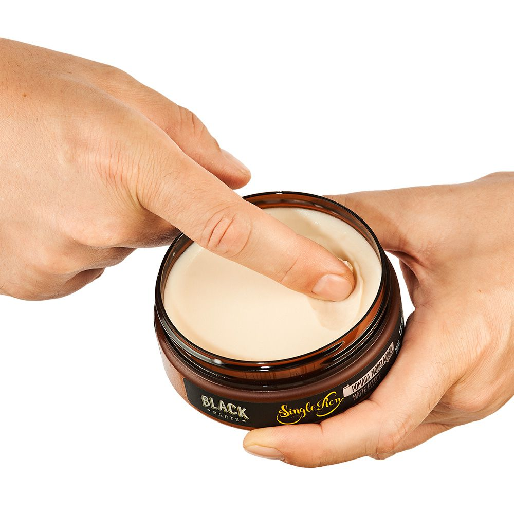 Kit Pomada para Cabelo Modeladora Matte Effect Efeito Seco Black Barts® Single Ron