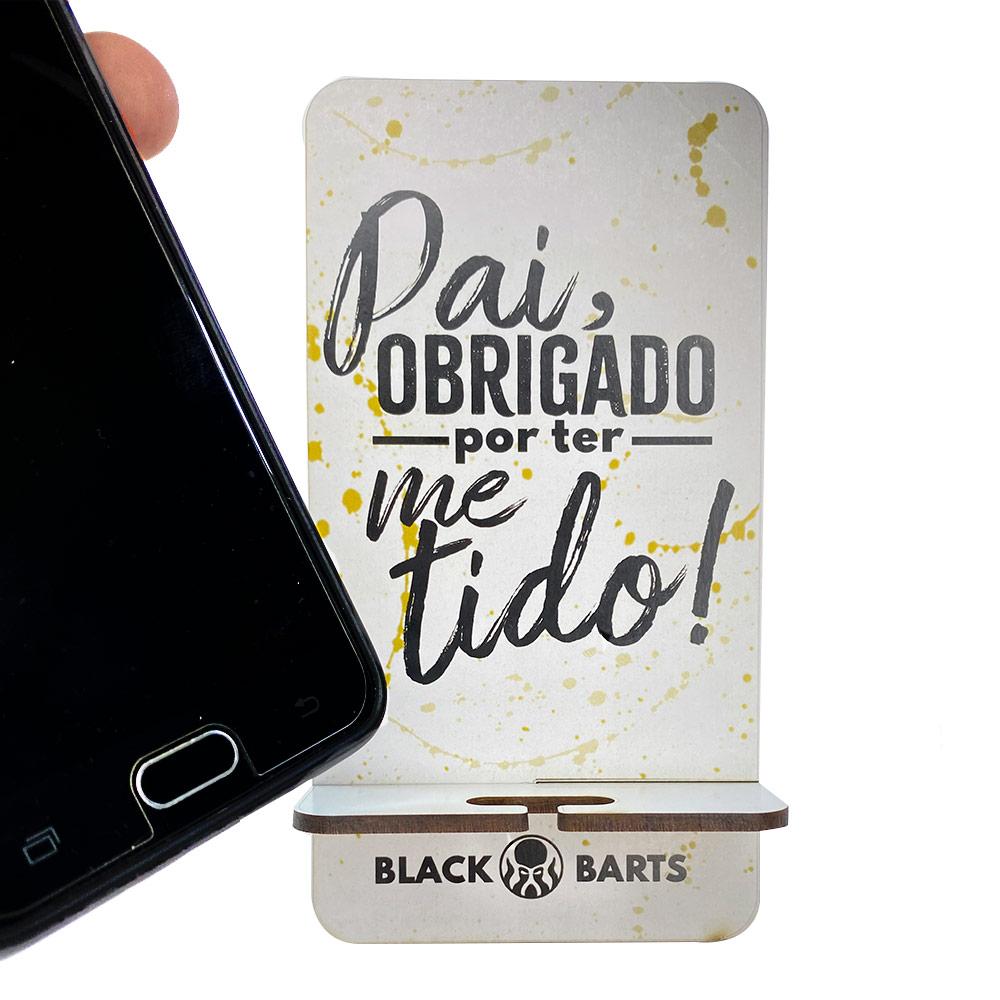 Kit Porta Celular Grátis + Balm + Óleo + Shampoo e Condicionador de Barba + Pente Personalizado + Bag Artesanal  - Black Barts