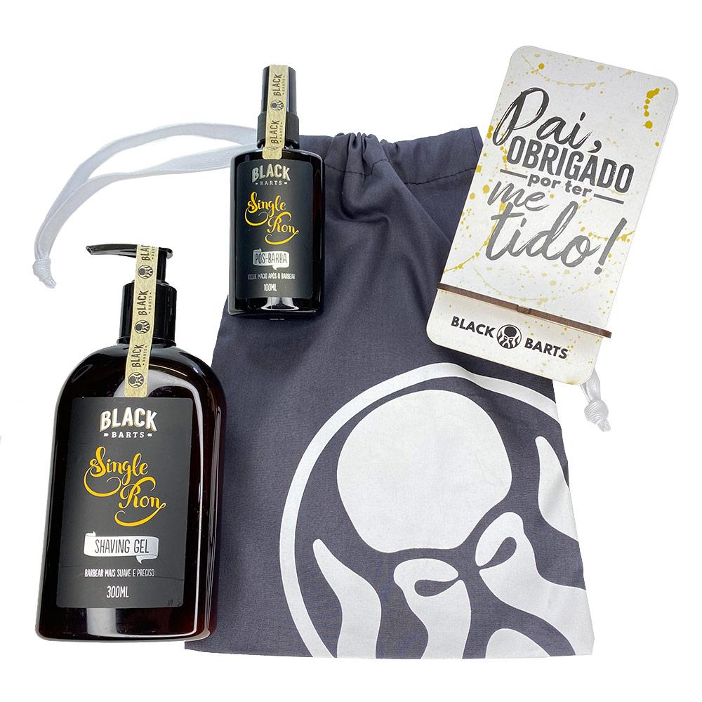 Kit Porta Celular Grátis + Shaving Gel de Barbar + Pós Barba + Bag Artesanal  - Black Barts