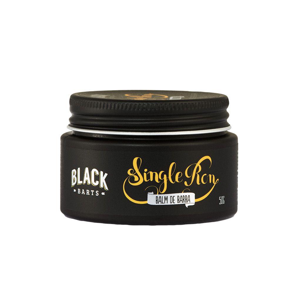Kit Balm em Cera + Shampoo para Barba Black Barts® Single Ron  - Black Barts