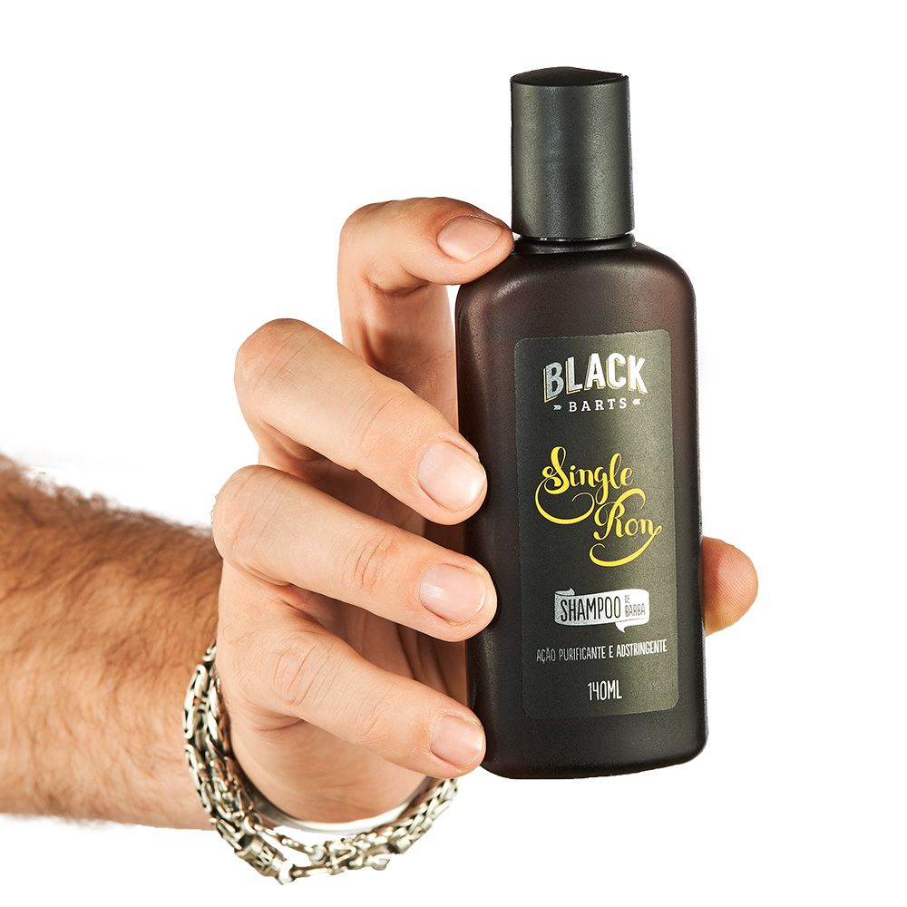 Kit Shampoo + Óleo de Barba + Pente Madeira Curvo Black Barts® Single Ron  - Black Barts