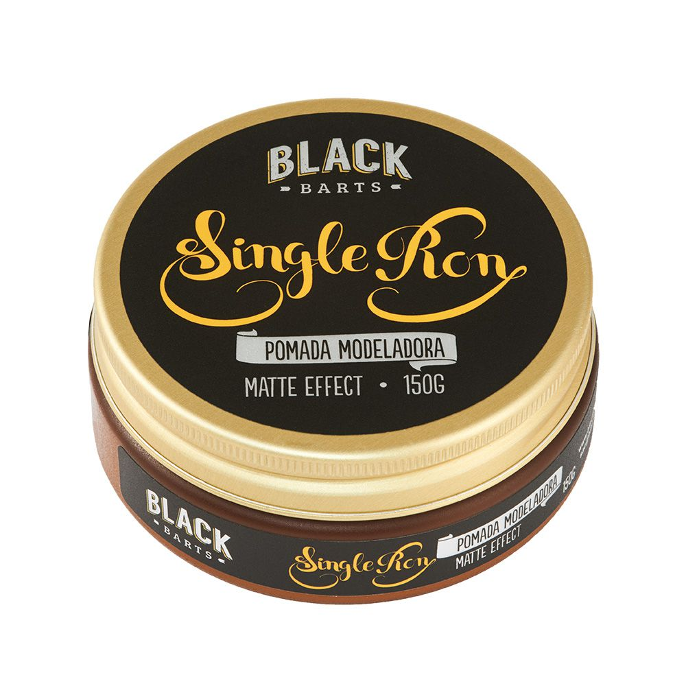 Pomada Modeladora Matte Efeito Seco Black Barts® Single Ron 150g