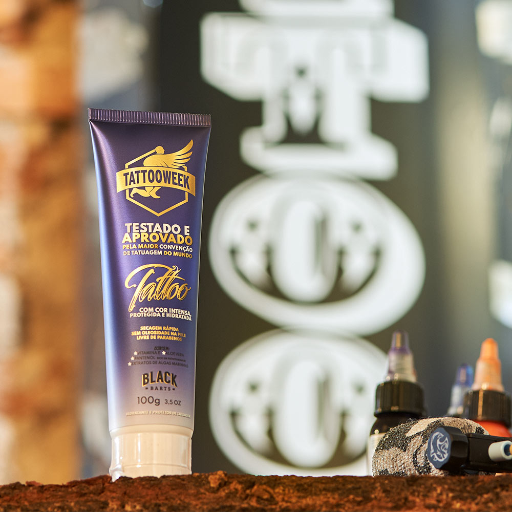 Protetor e Hidratante de Tatuagem 100g - Black Barts & Tattoo Week  - Black Barts