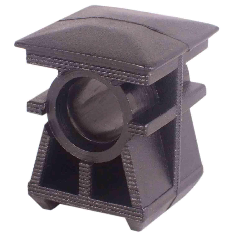Bucha para tubo quadrado 25mm - Entrada para Pino 10mm