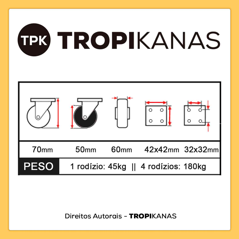 10 Roda Cromada Rodízio Giratório Silicone Anti Risco 52mm 45kg