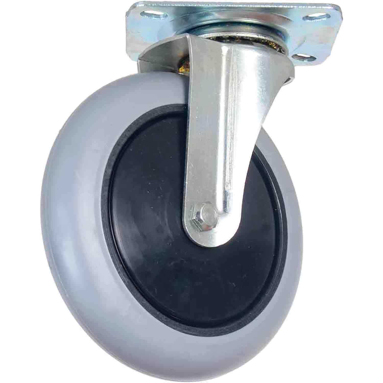"""Kit 10 Roda Rodízio Giratório Silicone com Rolamento 6"""" 150mm 105kg"""
