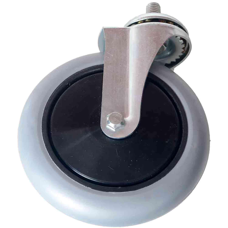 """Kit 10 Rodízio Giratório Silicone com Rolamento Parafuso 1/2"""" 25mm Roda 6"""" 150mm 105kg"""