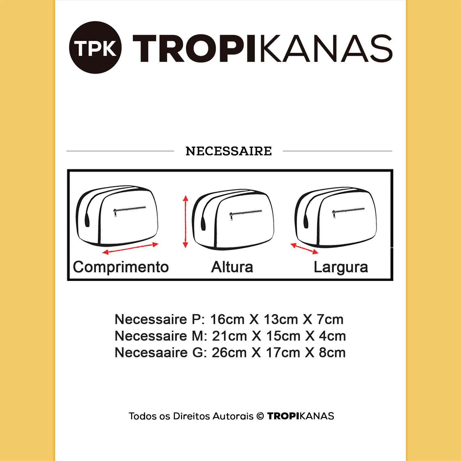 KIT 3 Necessaires Rubys Ancora