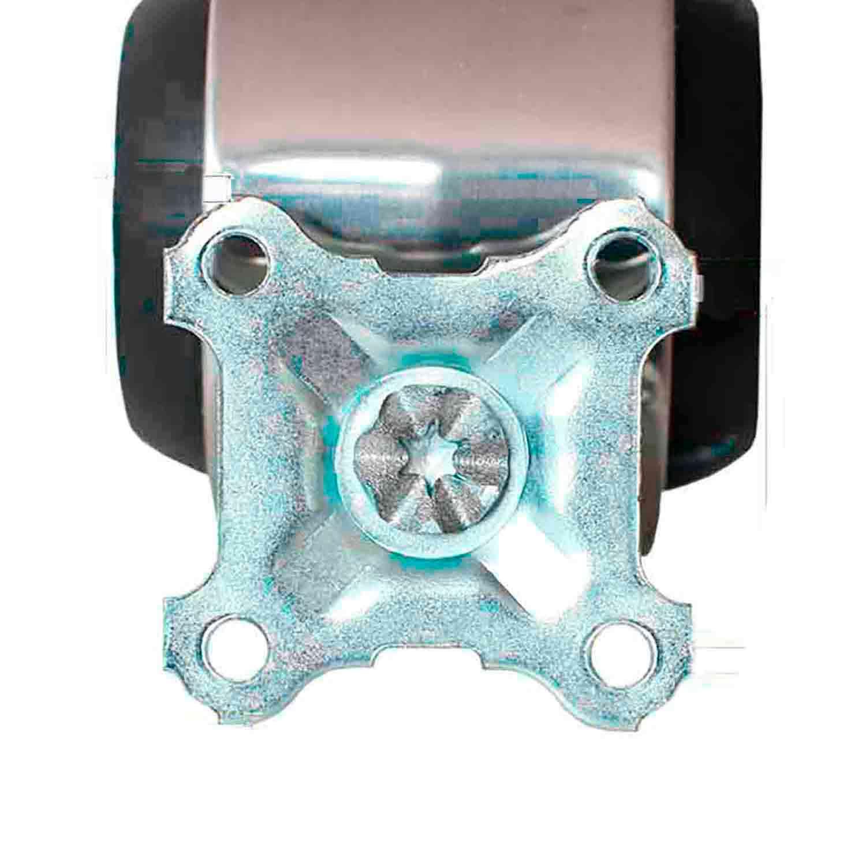 6 Roda Cromada com Freio Rodízio Giratório Silicone 52mm 45kg