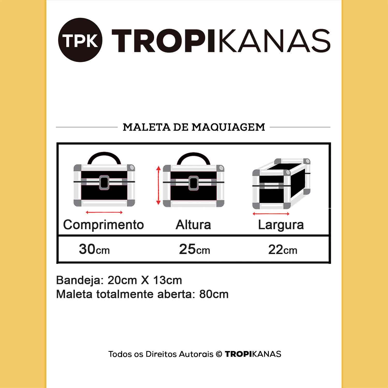 Maleta de Maquiagem Profissional 6 Bandejas 80cm Tropikanas