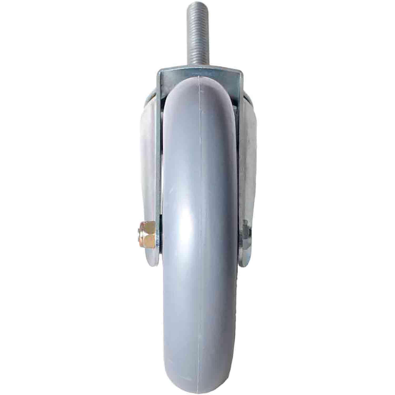"""Rodízio Giratório Silicone com Rolamento Parafuso 1/2"""" 63mm 150mm 105kg"""