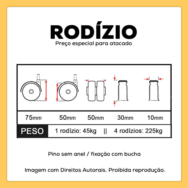 Rodízio de Cadeira Silicone Anti Risco 10mm