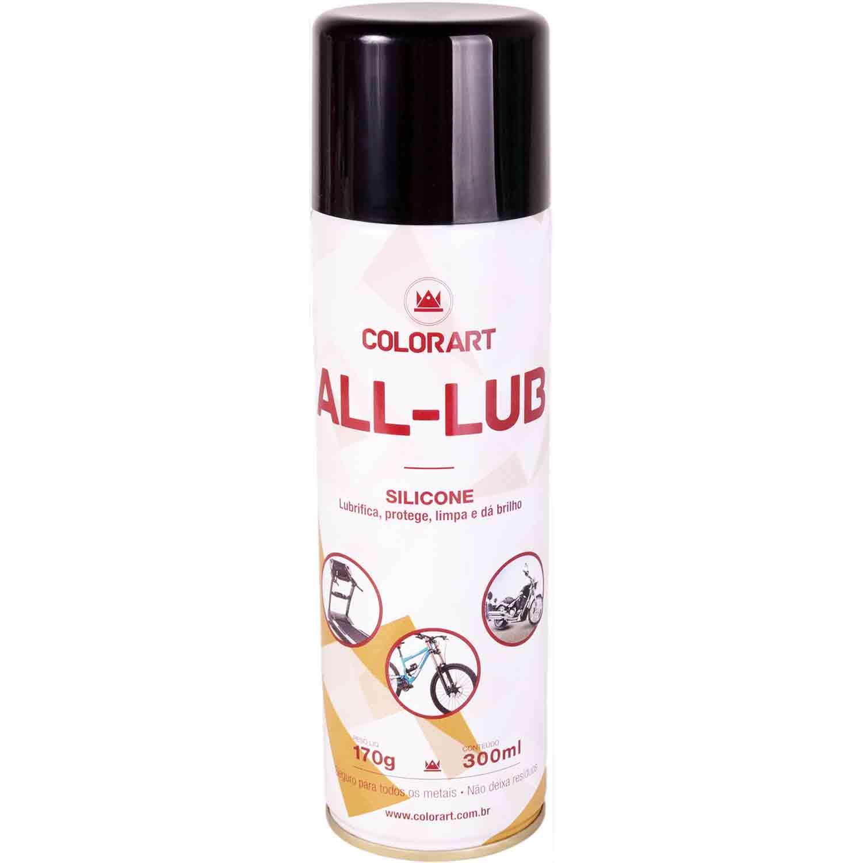 Silicone Spray Lubrificante 300ml (Repele umidade e forma película protetora)