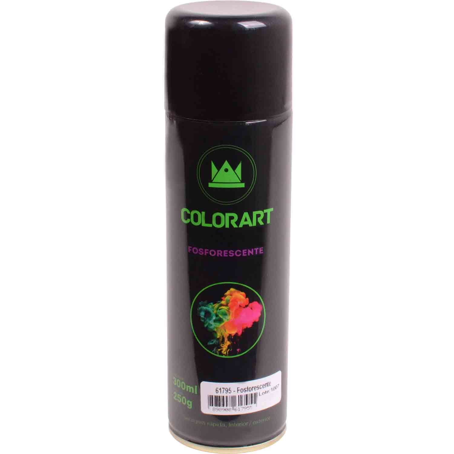Tinta Fosforescente Spray 300ml (Tinta que Brilha no Escuro Neon)