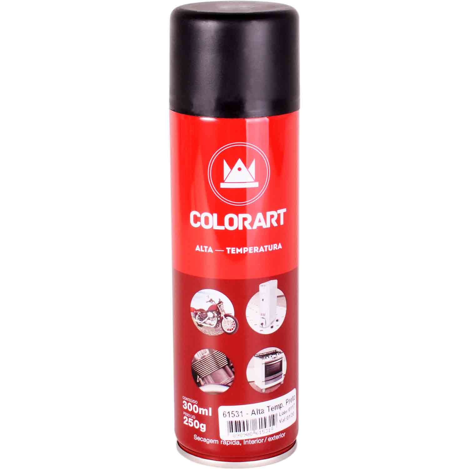 Tinta Spray Alta Temperatura Colorart 300ml