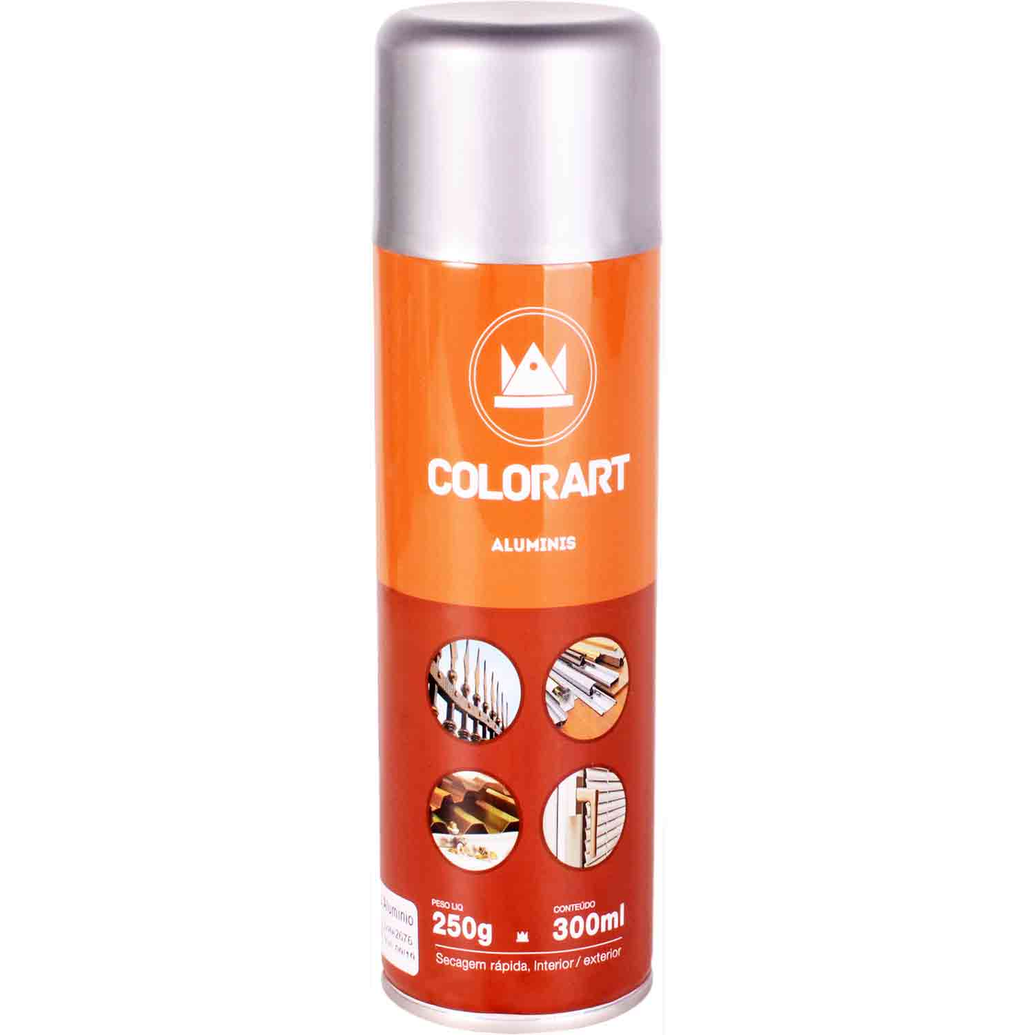 Tinta Spray Anti Ferrugem Aluminis Colorart 300ml