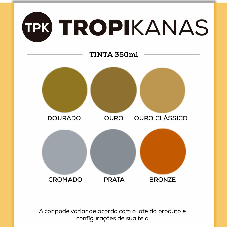 Tinta Spray Cromada Ouro Bronze Chemicolor Tropikanas 350ml